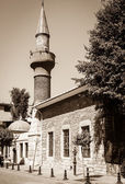 Old mosque, wooden house — Foto Stock