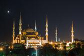 Gün batımı ile istanbul'da sultanahmet camii — Stok fotoğraf