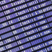 Airport flight information — Stock Photo