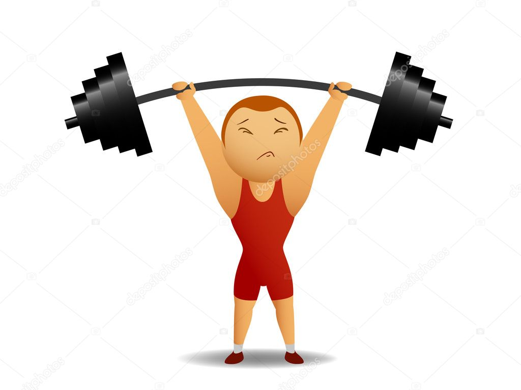 Weightlifter lift up the rod — Stock Vector © acidburn