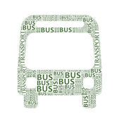Bus sign with wordy — Stock Photo
