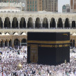 Pilgrims inside Masjid Al-Haram — Stock Photo