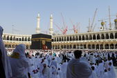 View of Kaabah from ground level of Masjid Al-Haram. — Stock Photo