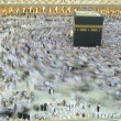 Stock Photo: Slow shutter of muslim pilgrim circumbulate around Kaaba.
