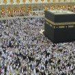 Stock Photo: Muslim Pilgrim circumambulate Kaabah.