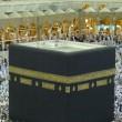 Stock Photo: Close up view of Muslim pilgrims circumambulate Kaabfrom ground floor of Haram Mosque, Mecca.