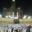 Stock Photo: Ground level inside Masjid Al-Haram during night.