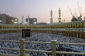 View from second level of Masjid Al-Haram during sunset. — Stock Photo