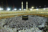 Masjid Al-Haram at Makkah at night. — Stock Photo