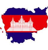 Kamboçya haritalar kamboçya bayrağı. — Stok fotoğraf