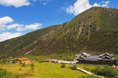 Prachtige landschap in huanglong, china. — Stockfoto