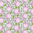 Seamless pattern with cute pigs — Stock Vector #18469003