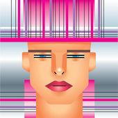 Woman cyborg head. — Stock Vector