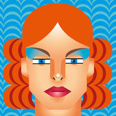 Woman cyborg head — Stock Vector