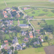 Little village from above in the Netherlands — Stock Photo