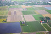 The Netherlands from above. Aerial view at agriculture landscape — Stock Photo