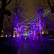 AMSTERDAM, THE NETHERLANDS: Laser show with lights at annual Amsterdam Light Festival on December 30, 2013. Amsterdam Light Festival is a winter light festival — Stock Photo