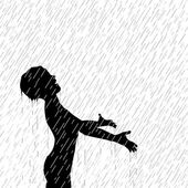 Rain boy — Stock Vector