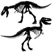 T rex skeleton — Stock Vector