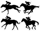 Konie wyścigowe — Wektor stockowy