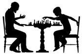 Chess prodigy — Stock Vector