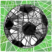 Cracking football — Stock Vector