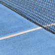 Tennis court blue — Stock Photo