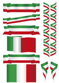 Italy flags — Stock Vector