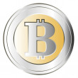 Stock Vector: Bitcoin