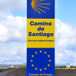 Road sign Camino de Santiago — Stock Photo