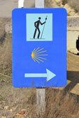 Sign of Camino de Santiago — Stock Photo