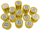 Bitcoins isolated — Stock Photo