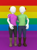 Lesbian couple front view — Stock Photo