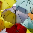 Umbrellas viewed from below — Foto Stock