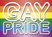 Gay pride words — Stock Photo