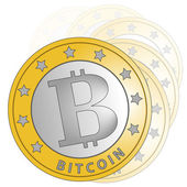 Bitcoin gradation — Stock Photo