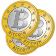 Three bitcoins — Stock Vector #27515451