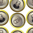 Cans background — Foto Stock