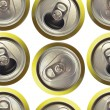 Cans background — Stock Photo