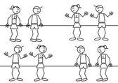 Expressions de bâton chiffres — Vecteur