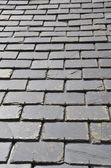 Roof made of black tiles — Stock Photo