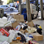 Madrid garbage — Stock Photo #35430337