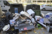 Ground garbage — Stock Photo