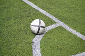 Soccer ball in the grass — 图库照片
