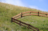 Wooden fence in a farm — Foto Stock
