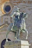 Estátua de francisco pizarro — Foto Stock