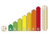 Energy efficiency savings — Stock Vector