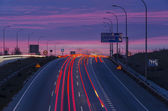 Traffic signals night — Stock Photo