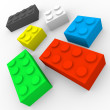 Stock Photo: Colour game pieces