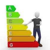 Presenting energy chart — Stock Photo